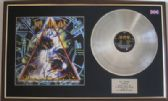 DEF LEPPERD - LP Platinum Disc & cover - HYSTERIA (Signed by the group)